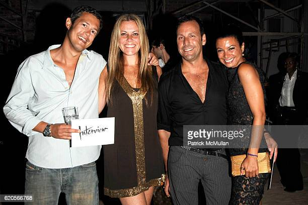 Ian Judson Kiki Nolan Jack Bergamino and Renata Merriam attend INTERVIEW Party to Celebrate A New Look at The Standard on September 4 2008 in New...