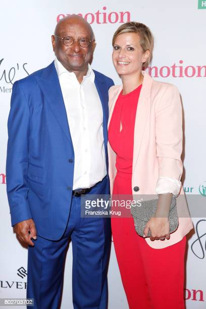 Ian Kiru Karan and Theresa Underberg attend the Emotion Award at Laeiszhalle on June 28 2017 in Hamburg Germany