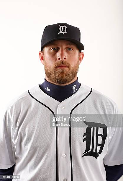 Ian Krol of the Detroit Tigers poses for a photo during the Tigers' photo day on February 28 2015 at Joker Marchant Stadium in Lakeland Florida