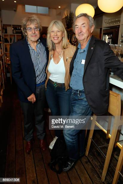 Ian La Frenais Nettie Mason and Nick Mason attend an after party for 'My Generation' at during the 61st BFI London Film Festival on October 8 2017 in...