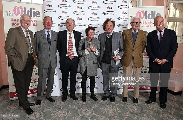 Ian Lavender Michael Buerk Lord Faulkner Bridget Riley Ken Dodd and Gyles Bradreth attend the Oldie Of The Year Awards at Simpsons in the Strand on...