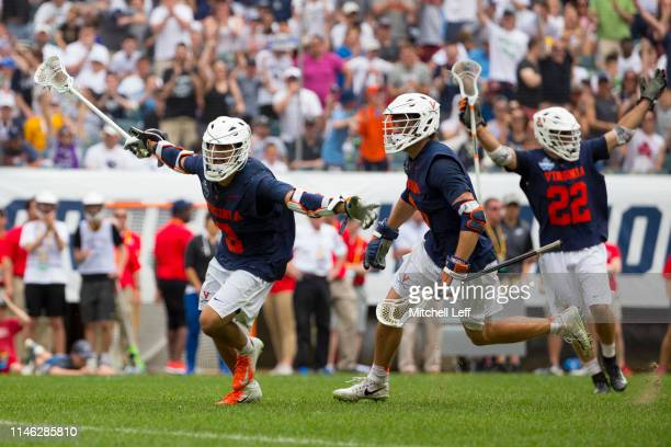 Ian Laviano of Virginia Cavaliers celebrates his game winning goal in double overtime of the 2019 NCAA Division I Men's Lacrosse Championship...