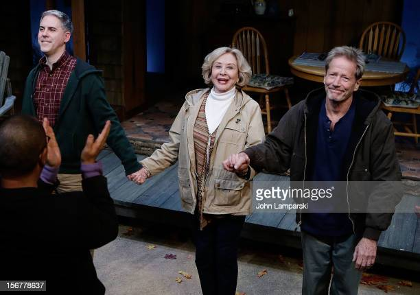 Ian Lithgow Michael Learned and Peter Strauss attend the The Outgoing Tide Off Broadway Opening Night at 59E59 Theaters on November 20 2012 in New...