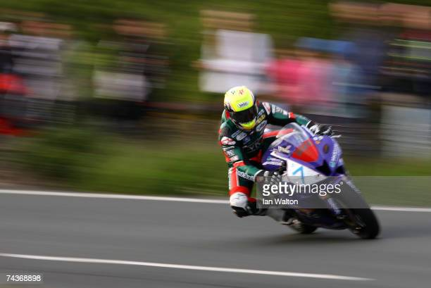 Ian Lougher of Wales rides during practice for the 2007 Isle of Man Tourist Trophy races on May 31 2007 in Ramsey Isle of Man United Kingdom