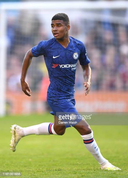 Ian Maatsen of Chelsea in action during the PreSeason Friendly match between Bohemians FC and Chelsea FC at Dalymount Park on July 10 2019 in Dublin...