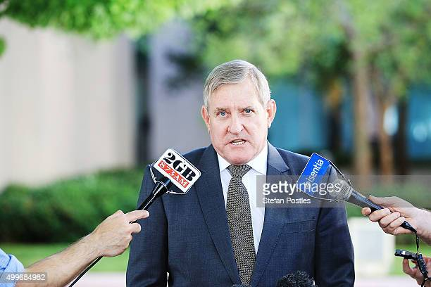 Ian Macfarlane addresses the media at Parliament House on December 3 2015 in Canberra Australia The former industry minister is defecting from the...