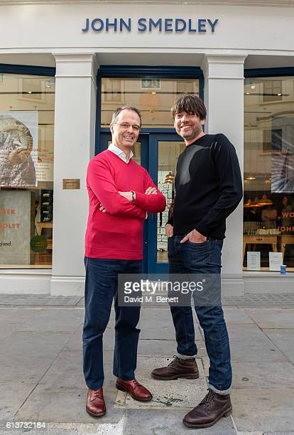 Ian Maclean Alex James attend as Alex James John Smedley announce the launch of Wool Week 2016 alongside The Campaign for Wool on October 10 2016 in...