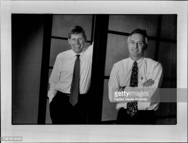 Ian Martin and Olev Rahn Exec Vice Presidents With Bt Aust August 20 1993