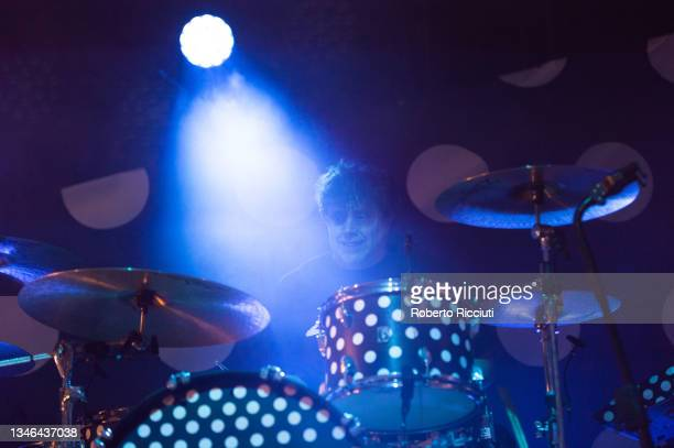 Ian Matthews of Kasabian performs on stage at O2 Academy Glasgow on October 13, 2021 in Glasgow, Scotland.