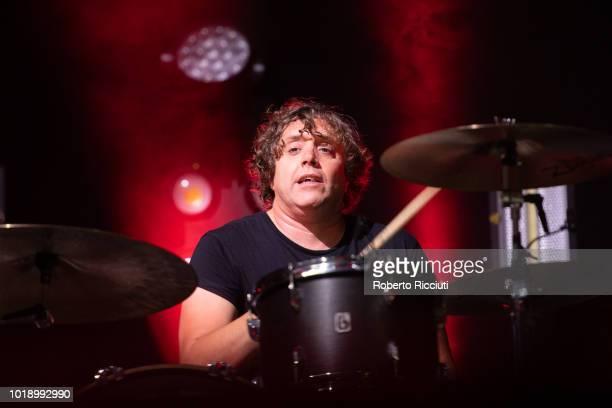 Ian Matthews of Kasabian performs on stage at Princes Street Gardens during Edinburgh Summer Sessions on August 18, 2018 in Edinburgh, Scotland.