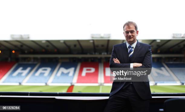Ian Maxwell is unveiled as the new Scottish FA Chief Executive at Hampden Park on May 22 2018 in Glasgow Scotland