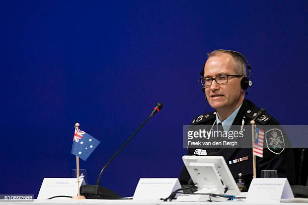 Ian McCartney during the press conference of the Joint Investigation Team who presents the first results of its criminal probe into the downing of...