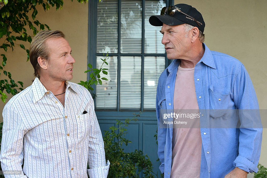 Ian McCrudden and Ted Levine arrive at the screening of 'Child Of Grace' - Arrivals at Raleigh Studios on August 11, 2014 in Los Angeles, California.