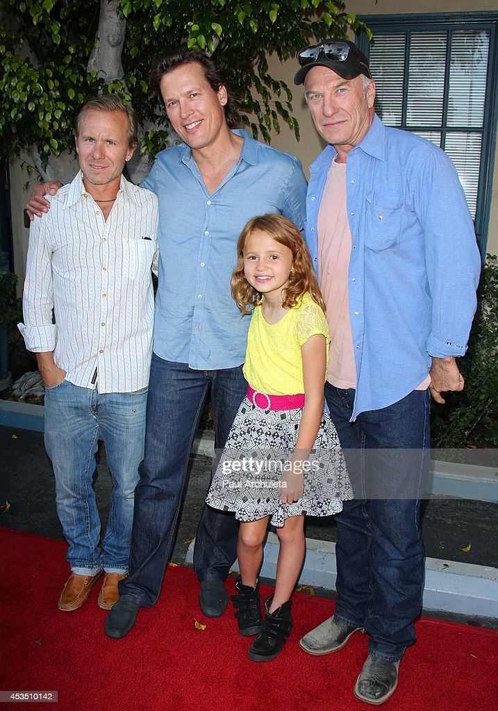 Ian McCrudden, Thomas Hildreth, Maggie Elizabeth Jones and Ted Levine attend the premiere of 'Child Of Grace' at Raleigh Studios on August 11, 2014 in Los Angeles, California.