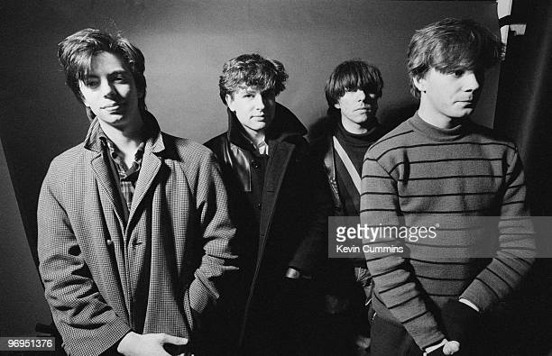 Ian McCulloch Les Pattinson Will Sergeant and Pete De Freitas of British band Echo and the Bunnymen taken on January 15 1980