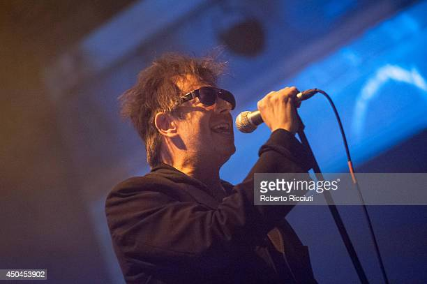 Ian McCulloch of Echo And The Bunnymen performs on stage at Queens Hall on June 11 2014 in Edinburgh United Kingdom