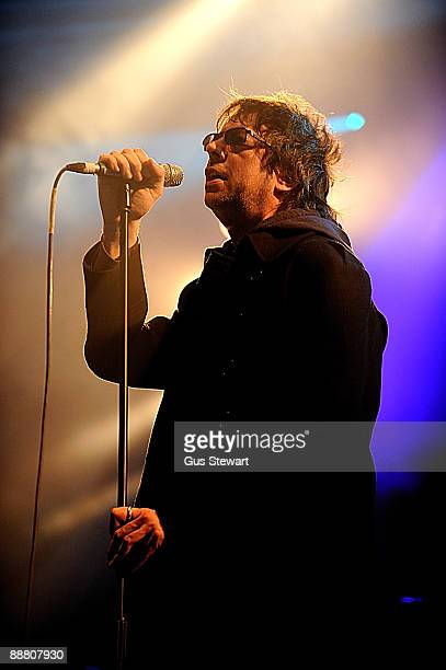 Ian McCulloch of Echo and the Bunnymen performs on stage on day 1 of Hard Rock Calling at Hyde Park on June 26 2009 in London England