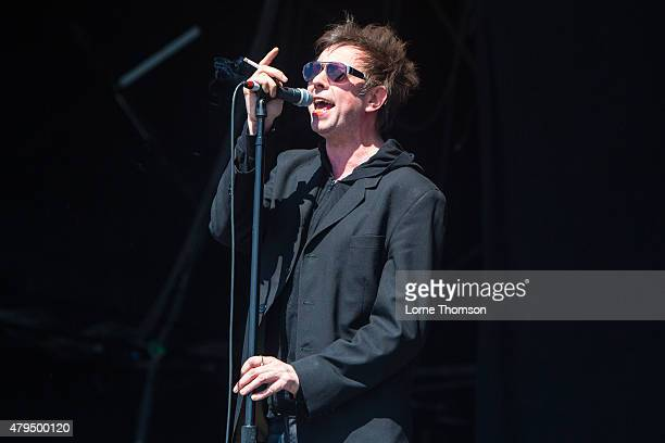 Ian McCulloch of Echo the Bunnymen performs at Clapham Common on July 4 2015 in London England