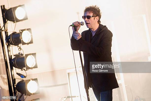 Ian McCulloch of Echo the Bunnymen performs at Kelvingrove Bandstand on August 15 2015 in Glasgow Scotland