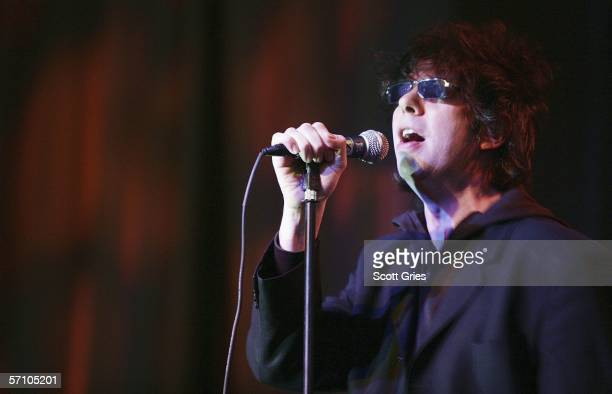 Ian McCulloch of Echo The Bunnymen performs onstage at the Blender SXSW 20th Anniversary Celebration on March 15 2006 in New York City
