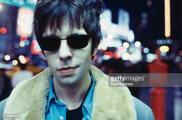 Ian McCulloch of the British band Echo And The Bunnymen is photographed in New York wearing sunglasses circa 1992