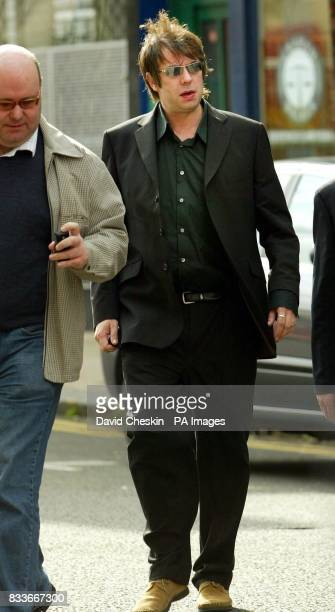 Ian McCulloch the lead singer of Echo And The Bunnymen arrives at Glasgow District Court before being cleared of assaulting two fans after a concert