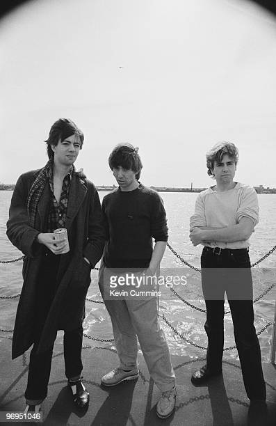 Ian McCulloch Will Sergeant and Les Pattinson of British band Echo and the Bunnymen in Liverpool England on July 15 1979