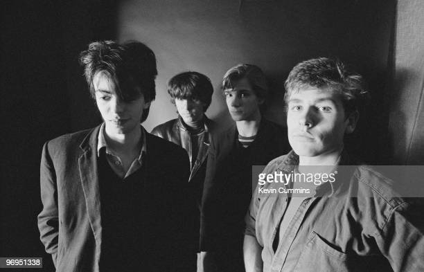 Ian McCulloch Will Sergeant Pete De Freitas and Les Pattinson of British band Echo and the Bunnymen taken on October 11 1979