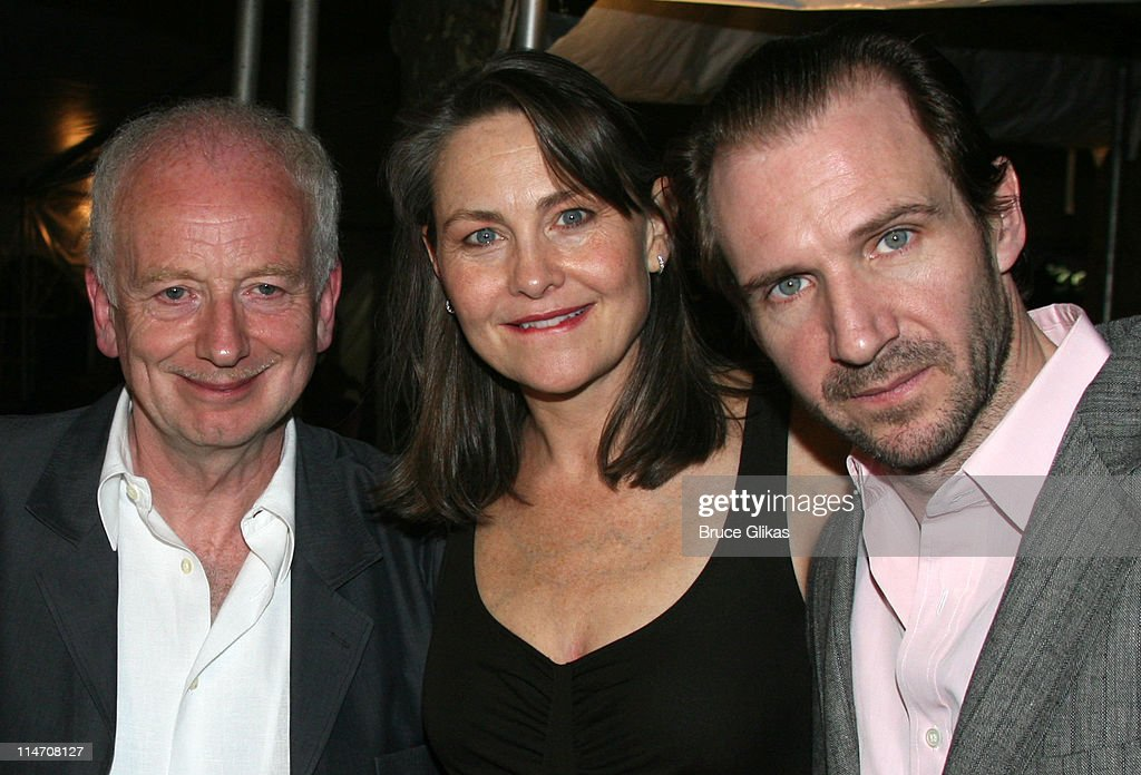 Ian McDiarmid, Cherry Jones and Ralph Fiennes during Opening Night for Brian Friel's 'Faith Healer' on Broadway - May 4, 2006 at The Booth Theater in New York City, New York, United States.