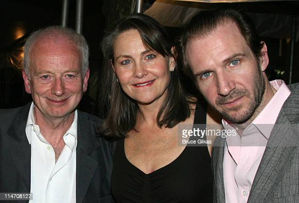 """Ian McDiarmid, Cherry Jones and Ralph Fiennes during Opening Night for Brian Friel's """"Faith Healer"""" on Broadway - May 4, 2006 at The Booth Theater in..."""