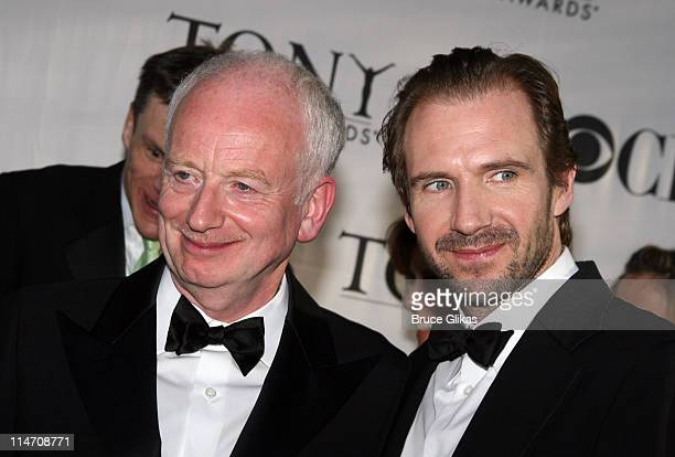 """Ian McDiarmid, winner for Best Performance by a Featured Actor in a Play for """"Faith Healer"""", and Ralph Fiennes, nominee for Best Performance by a..."""