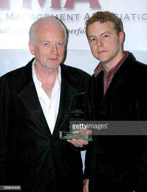Ian McDiarmid, winner of Best Performance in a Play and presenter Sam West