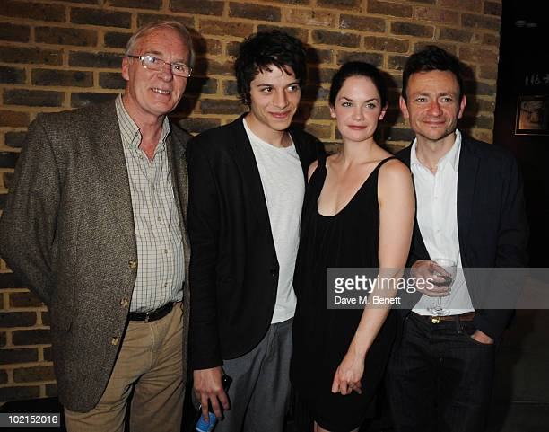 Ian McElhinney Dimitri Leonidas Ruth Wilson and Justin Salinger attend the press night of 'Through A Glass Darkly' at the Almeida Theatre on June 16...