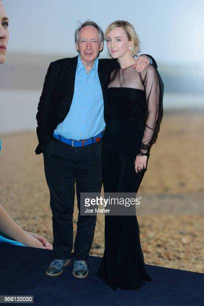 Ian McEwan and Saoirse Ronan attend a special screening of 'On Chesil Beach' at The Curzon Mayfair on May 8 2018 in London England
