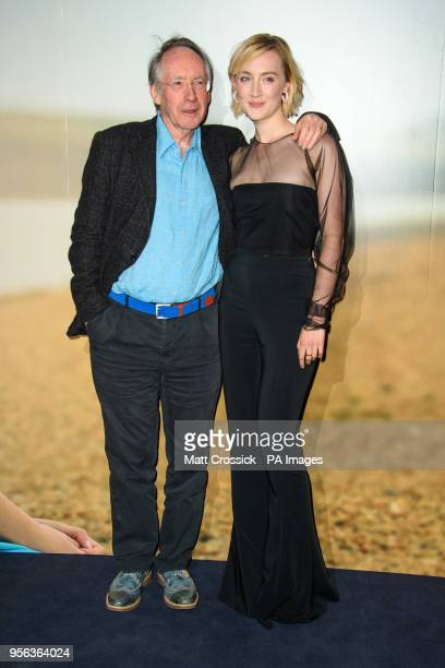 Ian McEwan and Saoirse Ronan attending a special screening of On Chesil Beach at the Curzon Mayfair London PRESS ASSOCIATION Photo Picture date...