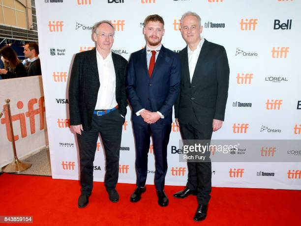 Ian McEwan Billy Howle and Dominic Cooke attend the 'On Chesil Beach' premiere during the 2017 Toronto International Film Festival at Winter Garden...