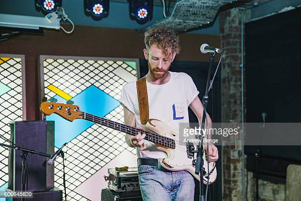Ian McFarlane of Squarehead performs at Headrow House on September 6 2016 in Leeds England