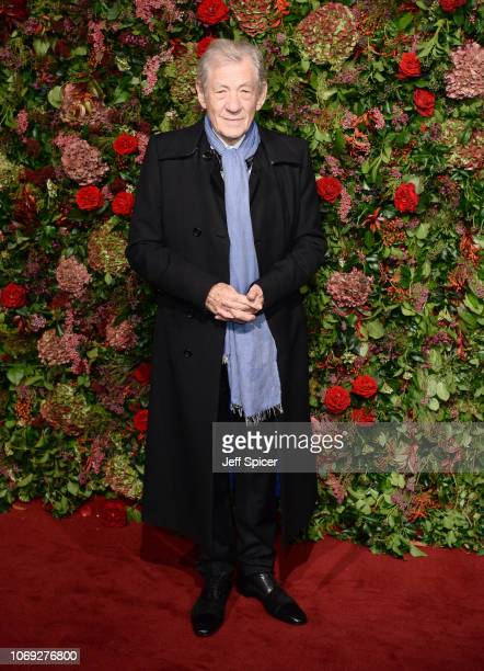 Ian Mckellan attends the Evening Standard Theatre Awards 2018 at the Theatre Royal on November 18 2018 in London England