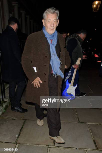 Ian McKellan seen attending the Evgeny Lebedev Christmas Party in North London on December 7 2018 in London England