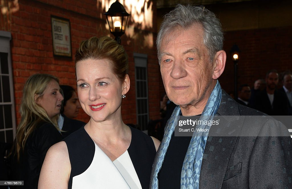 Ian McKellen and Laura Linney attend the UK Premiere of 'Mr Holmes' at ODEON Kensington on June 10, 2015 in London, England.