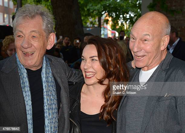 Ian McKellen and Patrick Stewart attend the UK Premiere of Mr Holmes at ODEON Kensington on June 10 2015 in London England