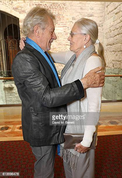 Ian McKellen and Vanessa Redgrave attend the UK Theatre Awards 2016 at The Guildhall on October 9 2016 in London England