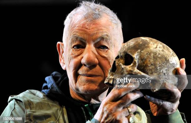 Ian McKellen as Hamlet in a production of William Shakespeare's Hamlet directed by Sean Mathias at The Theatre Royal Windsor.England .07/15/21.