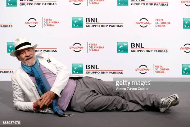 Ian McKellen attends 'McKellen Playing The Part' photocall during the 12th Rome Film Fest at Auditorium Parco Della Musica on November 1 2017 in Rome...