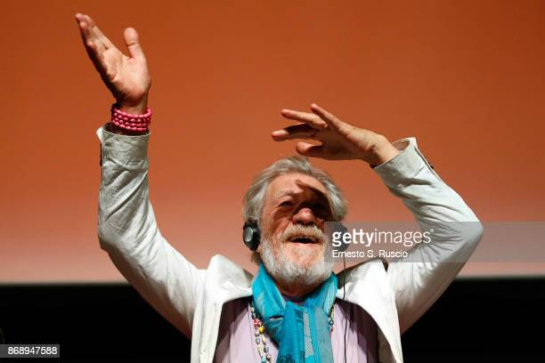 Ian McKellen attends McKellen: Playing the Part press conference during the 12th Rome Film Fest at Auditorium Parco Della Musica on November 1, 2017...