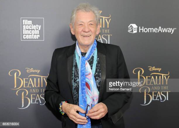 Ian McKellen attends the Beauty And The Beast New York Screening at Alice Tully Hall at Lincoln Center on March 13 2017 in New York City