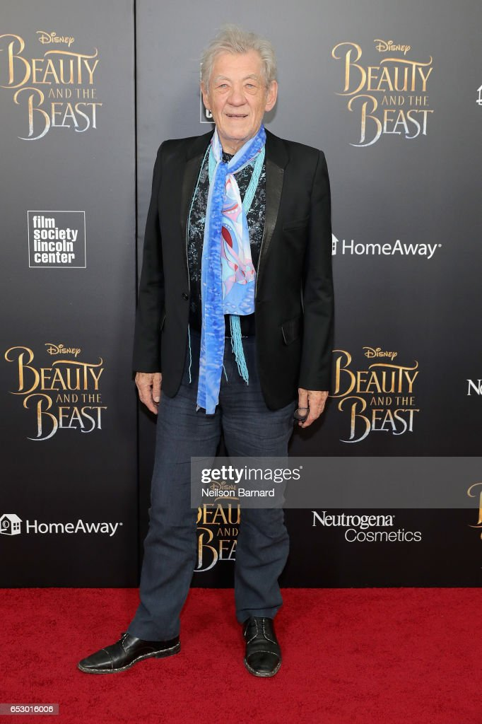 Ian McKellen attends the 'Beauty And The Beast' New York Screening at Alice Tully Hall at Lincoln Center on March 13, 2017 in New York City.