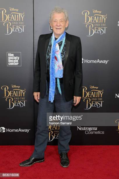 Ian McKellen attends the 'Beauty And The Beast' New York Screening at Alice Tully Hall at Lincoln Center on March 13 2017 in New York City