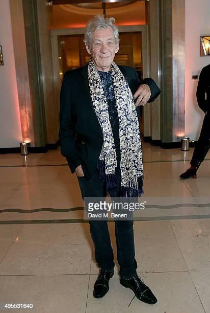 Ian McKellen attends the Harper's Bazaar Women of the Year Awards 2015 at Claridges Hotel on November 3 2015 in London England