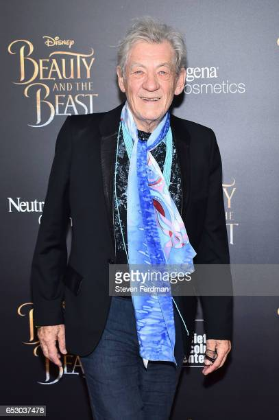 Ian McKellen attends the New York Screening of Beauty And The Beast at Alice Tully Hall on March 13 2017 in New York City